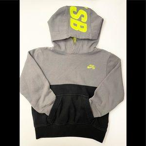 Nike SB Gray/Black Hoodie Sweatshirt Size 5